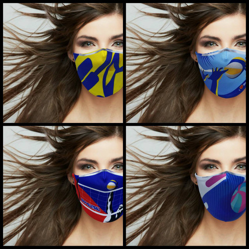 Visual for Volleyball Face Mask (4 Design)