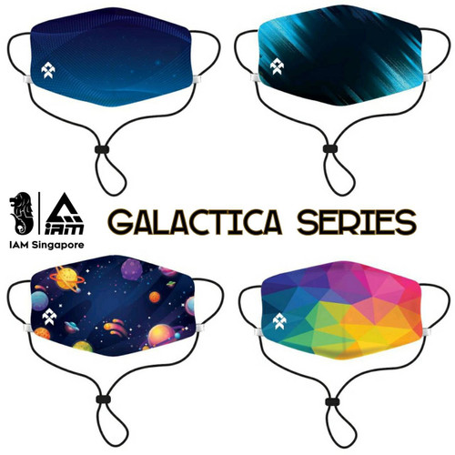 Galactic Series Polyester Draw string Face Mask