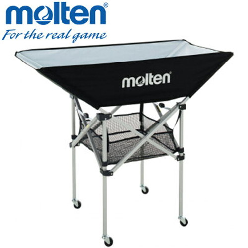 Molten BK0033 Ball Cart is a perfect addition for any Molten Gameball Range. The ball cart features four wheels, a hammock design tray and lower storage compartment