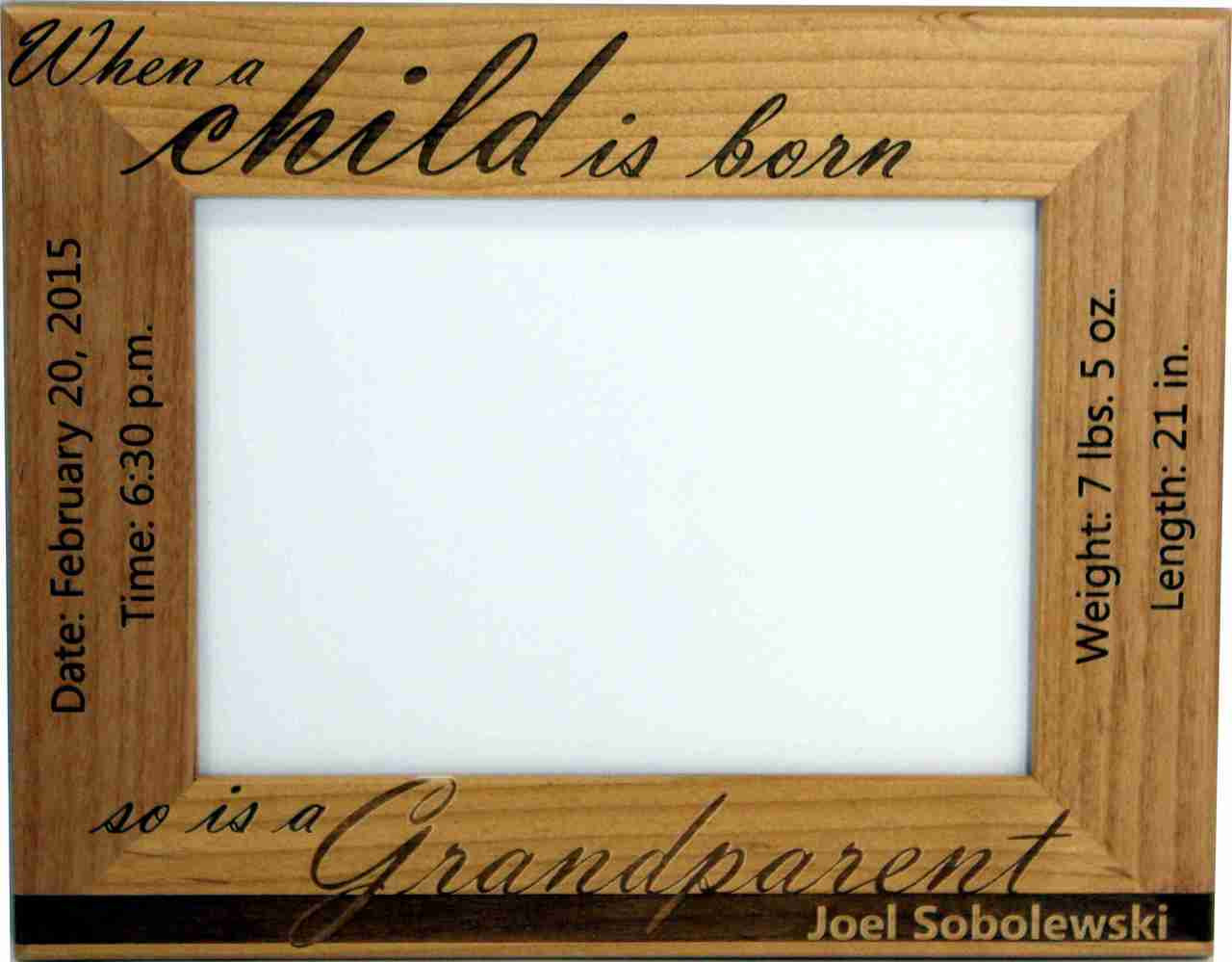 Baby Birth Picture Frame for Grandparents - Cin-dee\'s Crafts