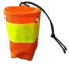 Bottle Holster in Orange Hi-Vis for Rugged Handsfree Chest Pack