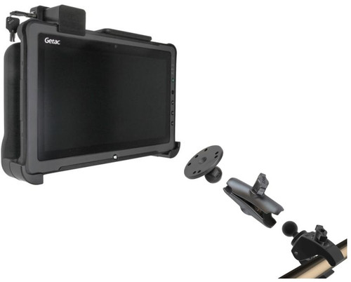 Getac F110 Pole Mount and Cradle Solution