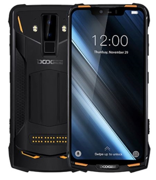 "DOOGEE S90 6.18"" 4G Modular Rugged Smartphone Front and Back View"