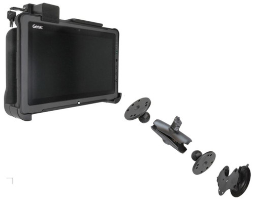 Getac F110 Cradle and Windscreen Mount (Long Arm)