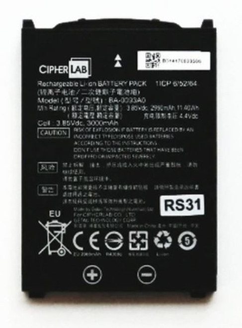CipherLab RS31 3.85V 3000mah Li-ion Rechargeable battery
