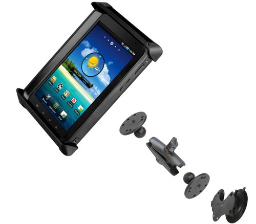 Double Suction Cups Mount and Cradle Solution for Toughbook FZ-M1