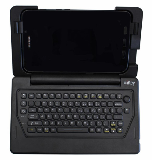 iKey Rugged Snap-on Keyboard for Samsung Galaxy Tab Active2 Top View