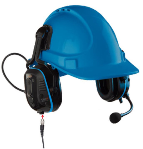 Sensear SM1P02 Battery Powered Two-Way Radio Smart Muff Helmet Mount Headset View