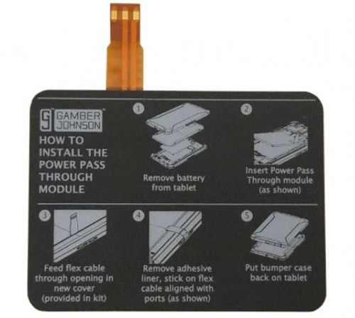 Gamber Johnson Power Pass Through Module Kit for Samsung Galaxy Tab Active2 Front View