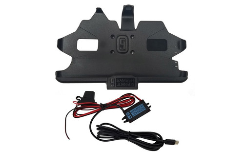 Gamber Johnson Charging Cradle with Power Adapter and Bare Wire Lead for Samsung Galaxy Tab Active2 & Active3 Front View
