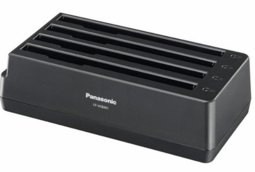 4-Bay Battery Charger for Panasonic  Toughbook CF-20 and FZ-A2 Front Right View