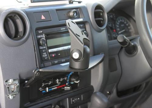 Custom Vehicle Dashboard Mount Side View