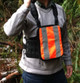 """8"""" Chest Pack Front Cover in Orange Hi-Vis for Rugged Handsfree Chest Pack"""