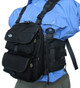 "10"" Chest Pack Front Cover with Pockets in Black for Rugged Handsfree Chest Pack"