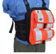 "10"" Chest Pack Front Cover with Pockets in Orange Hi-Vis for Rugged Handsfree Chest Pack"