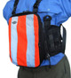 "10"" Chest Pack Front Cover in Orange Hi-Vis for Rugged Handsfree Chest Pack"