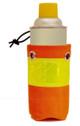 Bottle Holster in Orange Hi-Vis for Rugged Handsfree Chest Pack