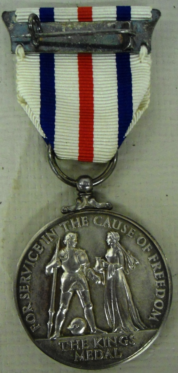 British WWII Kings Medal for Service in the Cause of Freedom