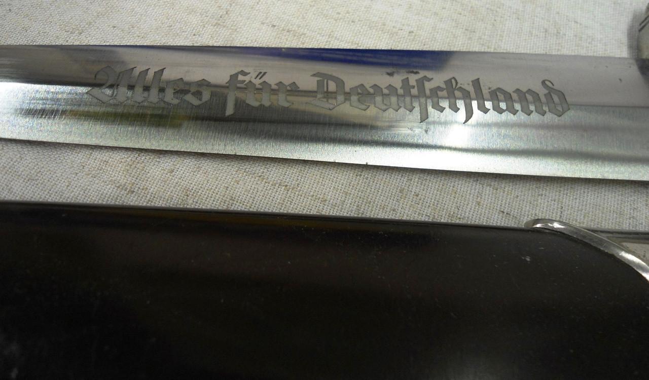 German Standard Model 1934 SA Dagger etched blade