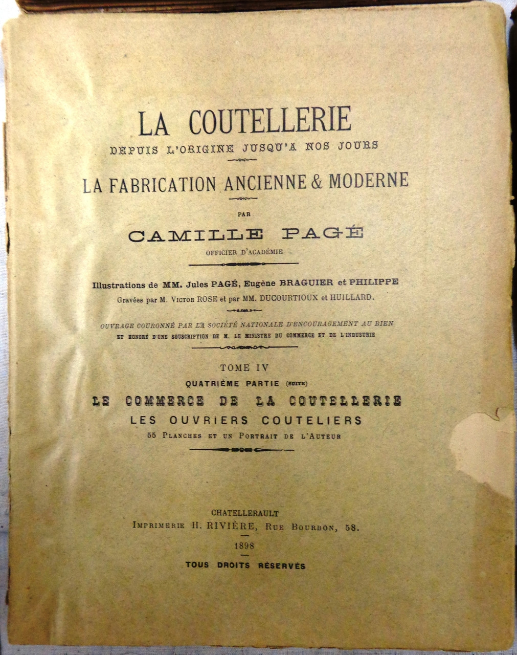 La Coutellerie by Camille Page - 6 Volume Set - 1896 to 1904