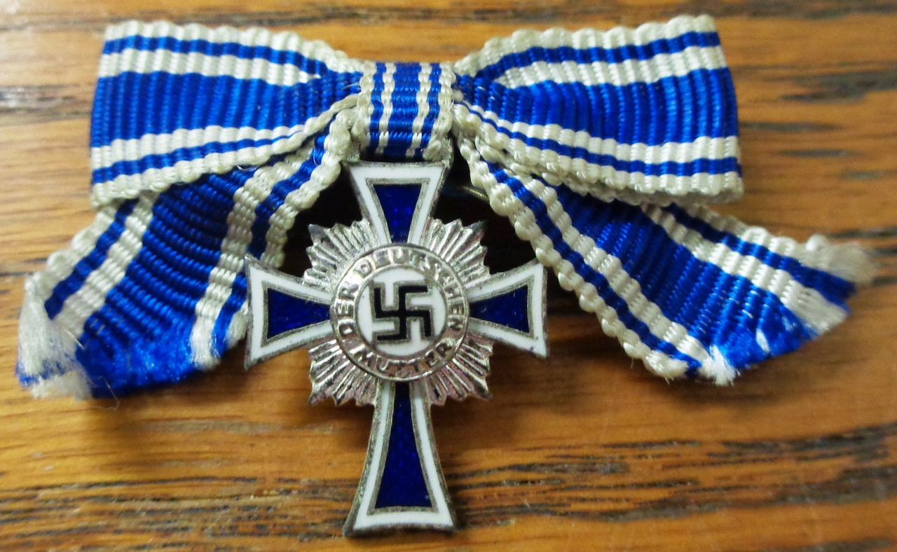 German WWII Nazi Mini Silver Mother's Cross
