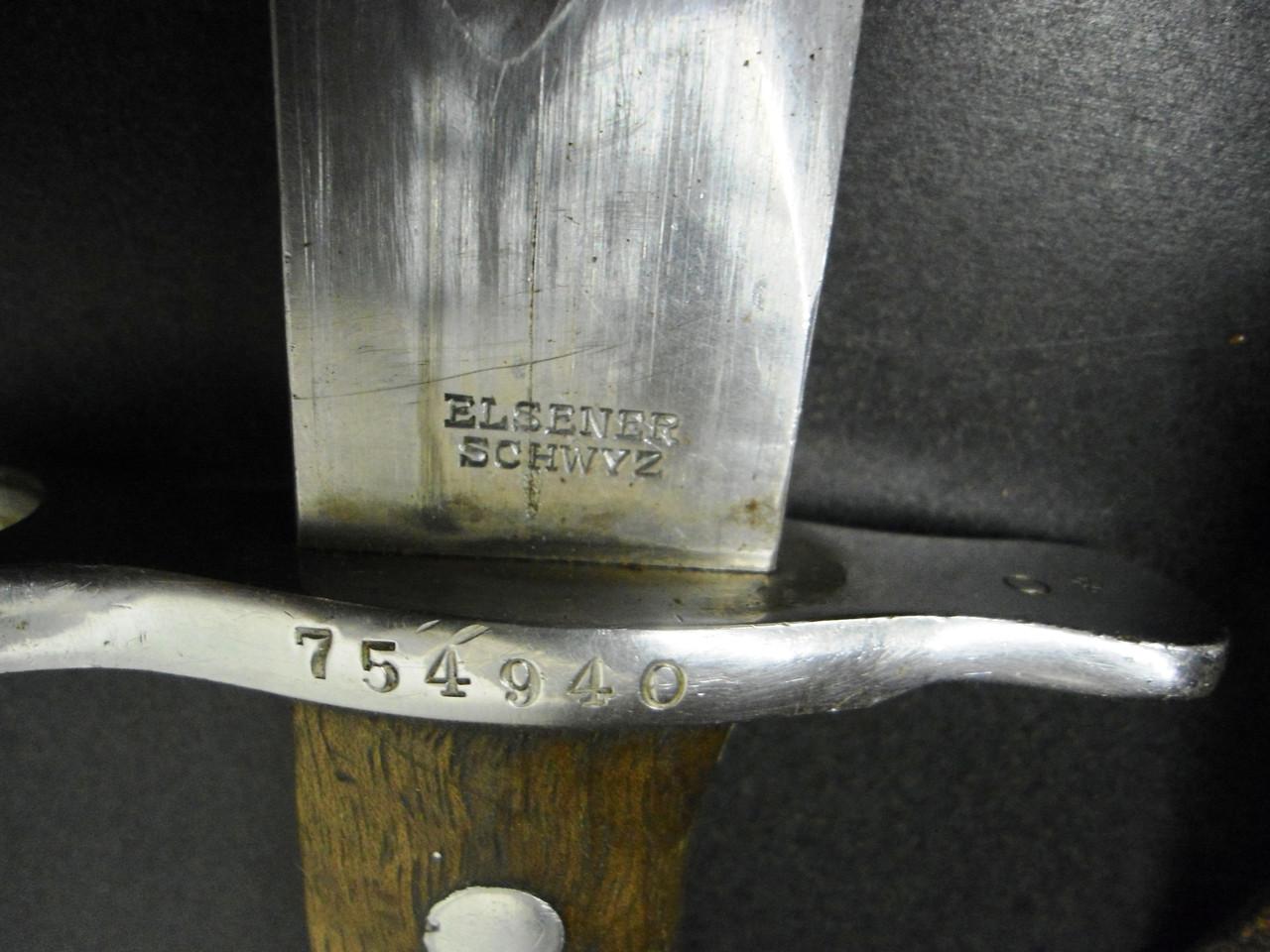 Swiss M1911 Pioneer Schmidt-Rubin Bayonet with Scabbard