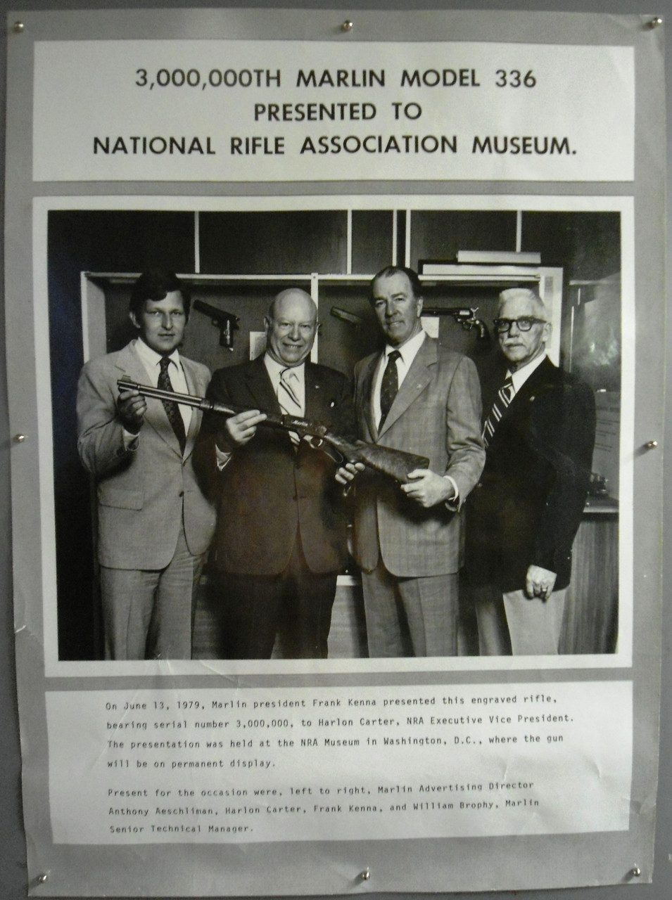 3,000,000th Marlin Presented to NRA