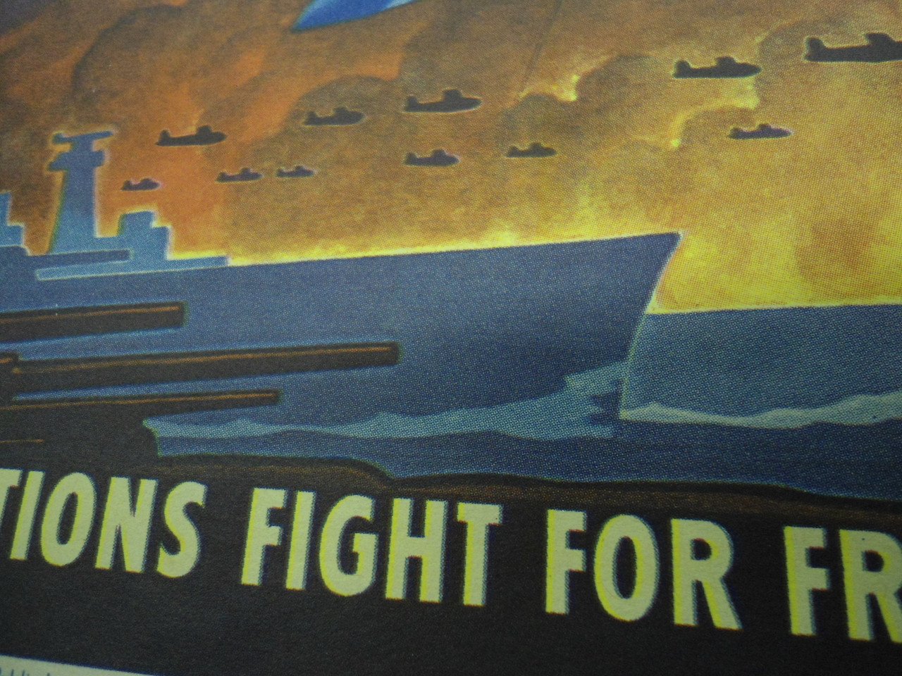 United Nations Propaganda Poster dated 1943