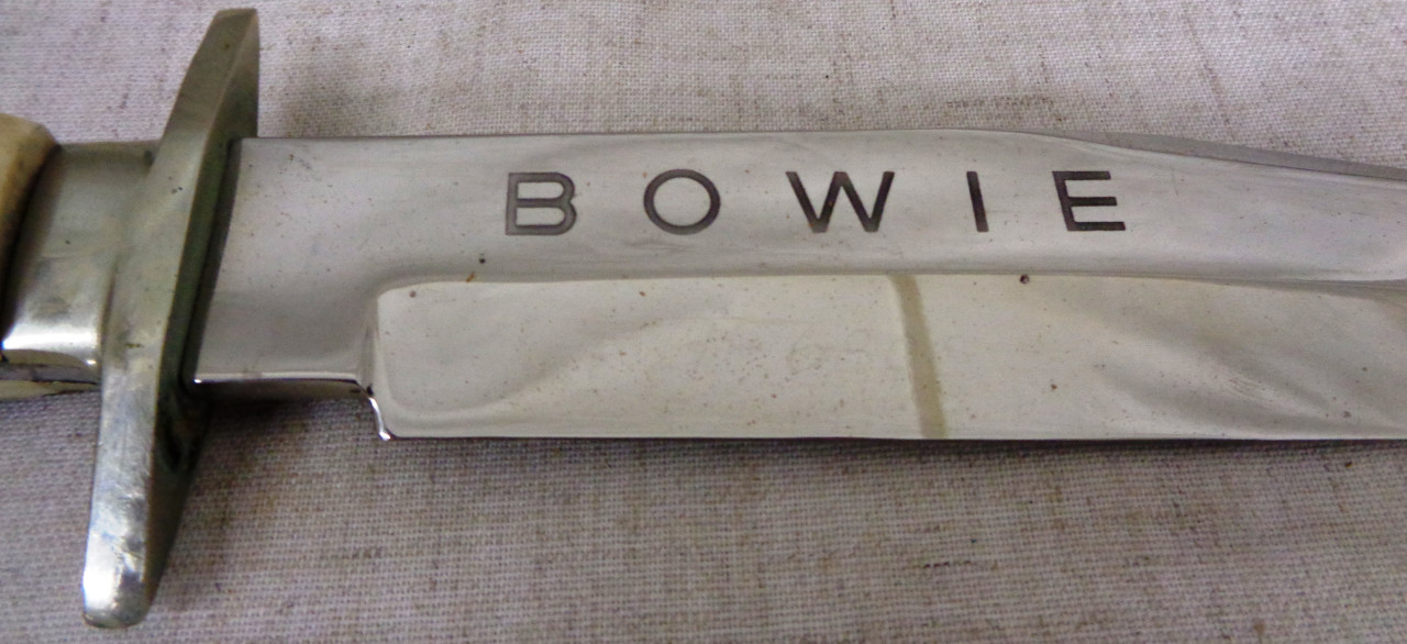 R.J. Richter, Solingen, Stag Handled Bowie Hunting Knife with Original Sheath