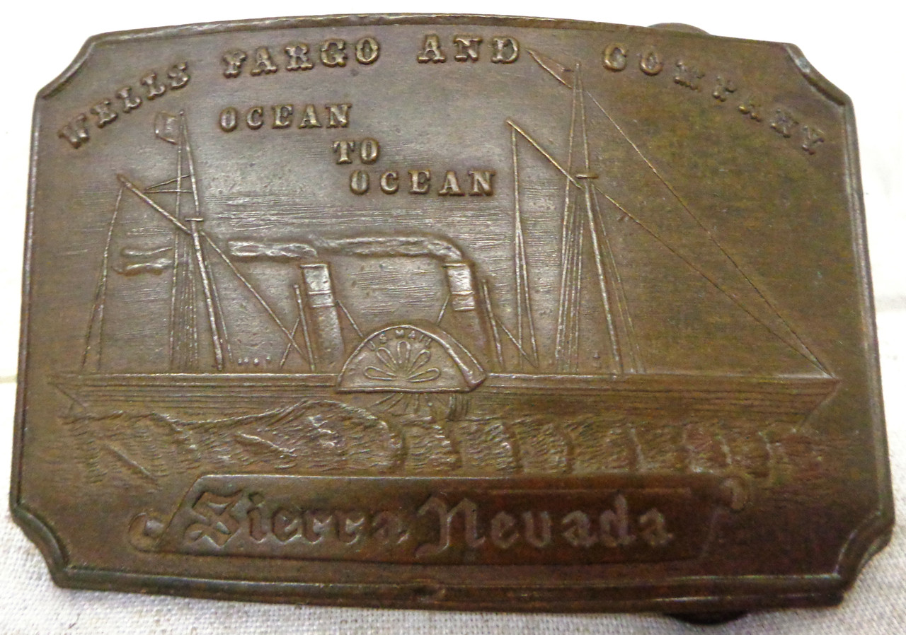 Tiffany New York Sierra Nevada Brass Buckle circa mid-1960's