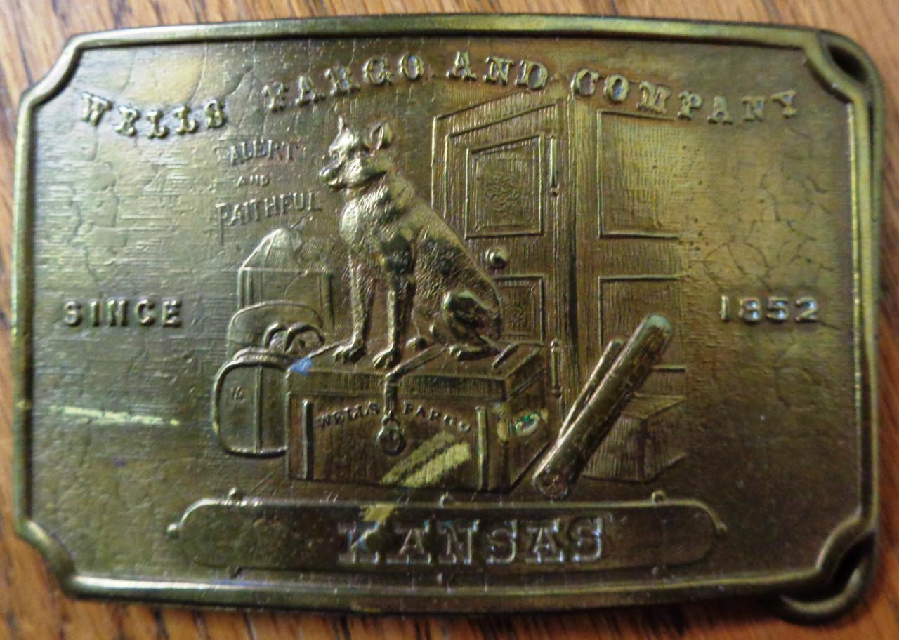 Tiffany New York Kansas Brass Buckle circa mid-1960's