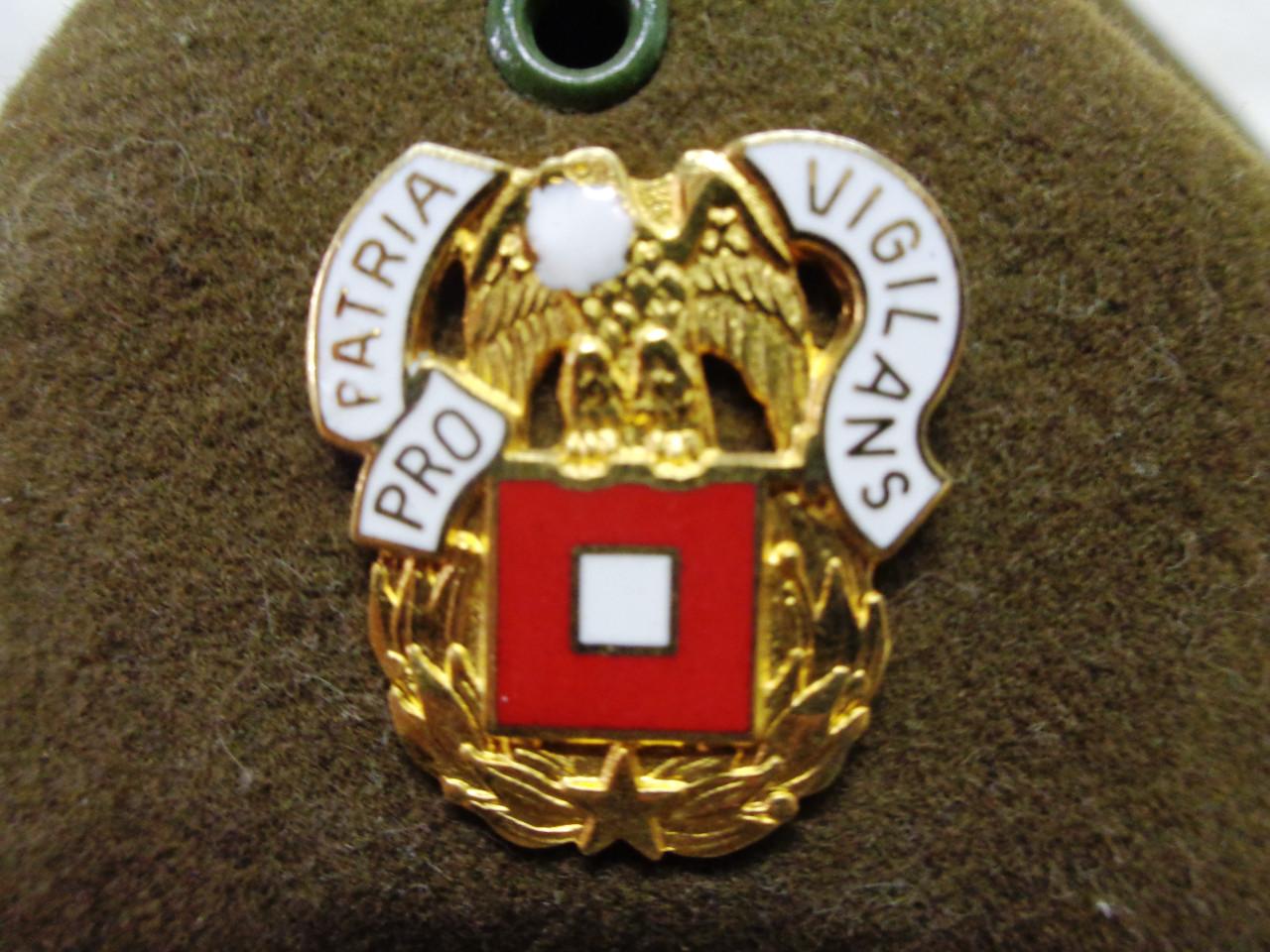 U.S. Campaign Hat w/Signal Corp Cord, Chin Strap, & Regiment Insignia