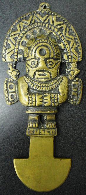 Brass Inca Souvenir Letter Opener circa 1970's