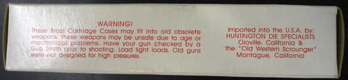 Bertram Bullet Co. Unprimed Brass Cases Box and Brass