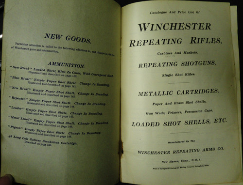 Winchester Catalog No. 67 March 1901