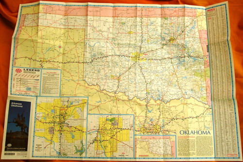 AAA Arkansas/Oklahoma Road Map 1996
