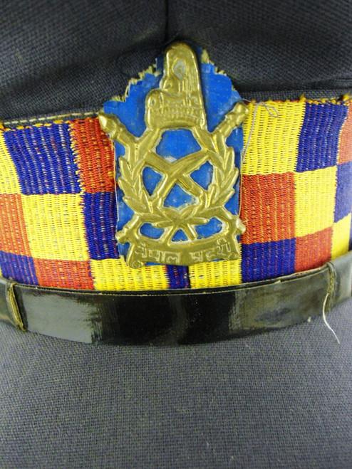 Nepal Police Lieutenant's Visor Hat w/Hat Badge