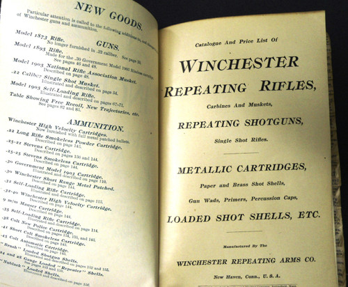 Winchester Catalog No. 72 * 1905 - Salesman's Copy