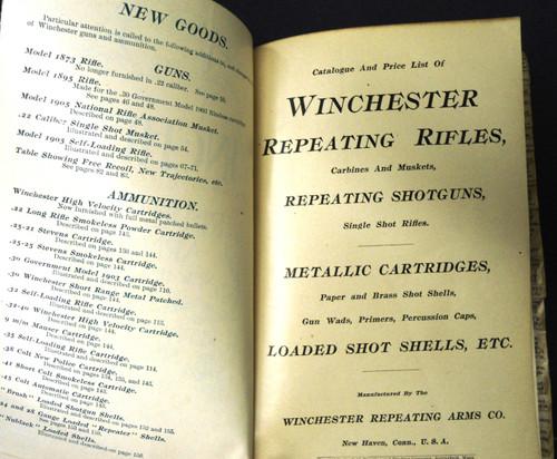 Winchester Catalog No. 72 * 1905 - Salesman's Copy