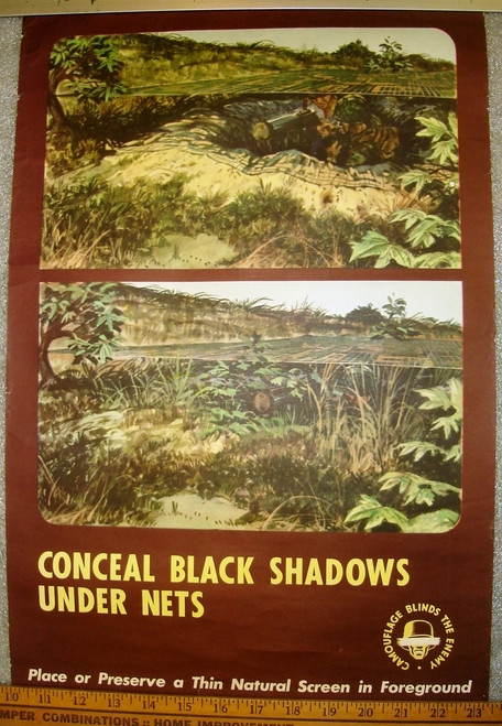 Conceal Black Shadows Under Nets WWII Poster