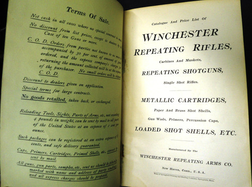 Winchester Catalog No. 61 March 1898