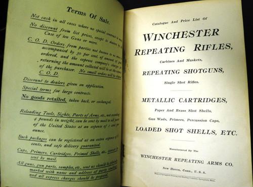 Winchester Catalog No. 61 March 1898