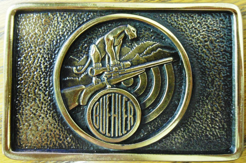 Buehler Scopes Brass Belt Buckle