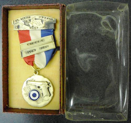 El Paso Pistol Club 19?? Winner Slow Fire Medal w/Box