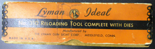 Lyman Ideal 310 Tool w/Die and Original Box