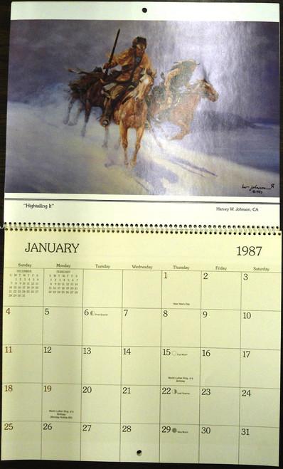 Calendar of Western Art 1987 - *SIGNED*