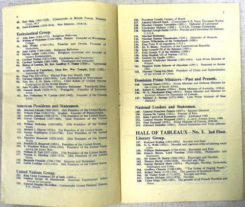 British WWII Madame Tussaud's Exhibition Flyer