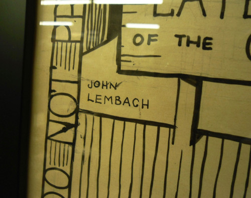 WWII Propaganda Poster/Drawing Framed by John Lembach