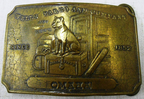 Tiffany New York Omaha Brass Buckle circa mid-1960's