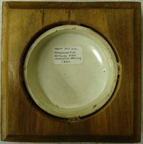 Pratt Pot Lid Commemorating the NRA Meeting 1860
